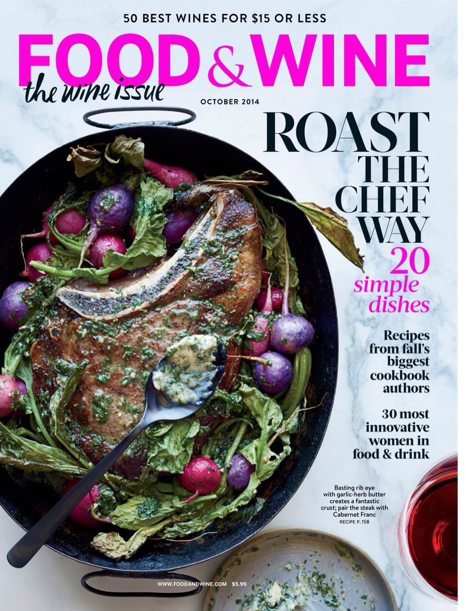 Image of cover for Food and Wine issue, October 2014