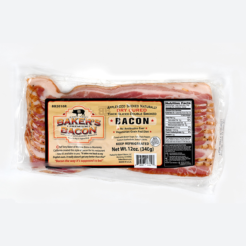 Baker's Bacon package of sliced bacon